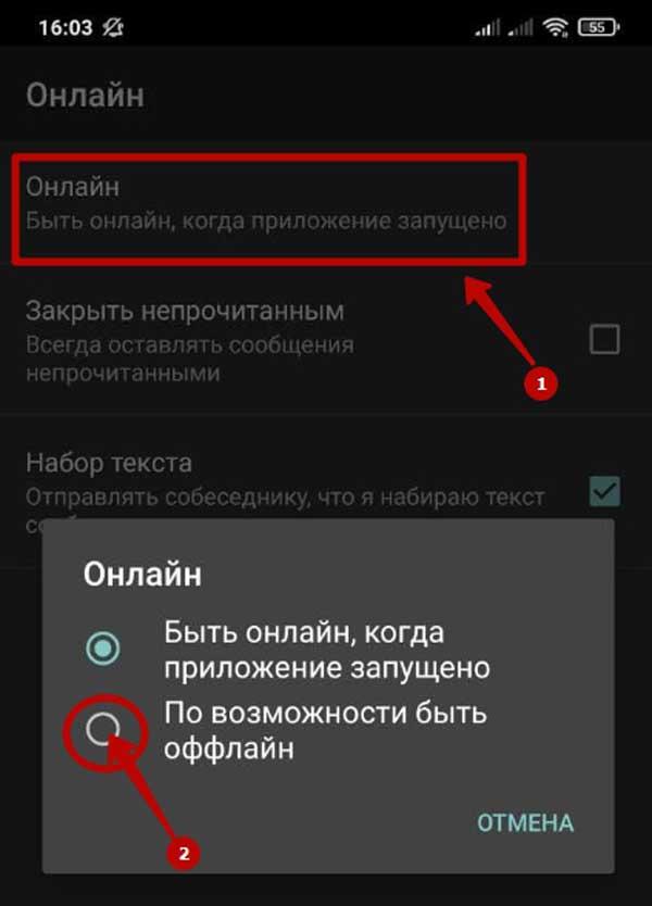 Как сделать в ВК «Заходил недавно» на Андроид через телефон